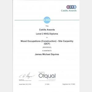 Level 2 NVQ Diploma Wood Occupations