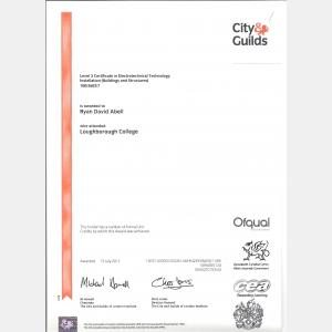Level 3 Certificate Award in Electrotechnical Technology Installation