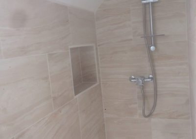 Cupboard converted to shower room